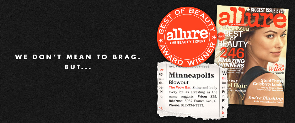 the best blowout in Minneapolis as voted by allure magazine
